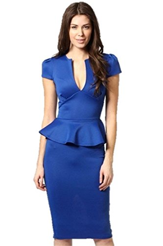 KingField - Robe - Moulante - Sans Manche - Femme Medium Bleu - Bleu