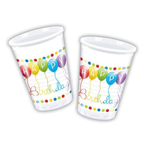 Disney Happy Birthday Streamers Plastic Cups