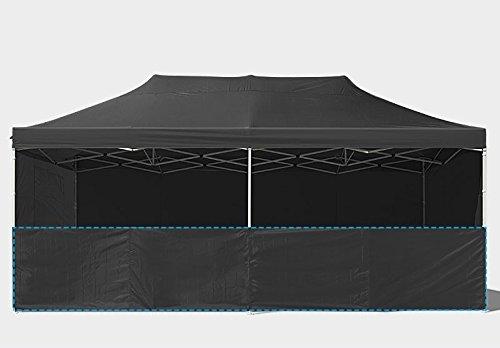 Boudech tenda gazebo per giardino impermeabile nero tendone