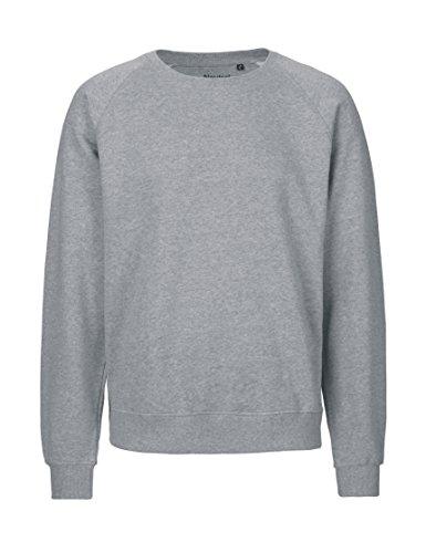 -Neutral- Sweatshirt, 100% Bio-Baumwolle. Fairtrade, Oeko-Tex und Ecolabel zertifiziert Graumeliert