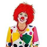 Clownperücke: bunte Haare für Clowns, Farbe:rot
