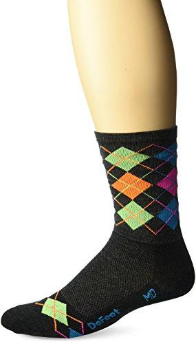 Defeet Wooleator Argyle Socken, Herren Damen, anthrazit, Small -