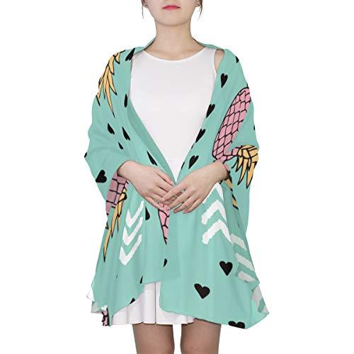 SHAOKAO Bunter tropischer Ananas-einzigartiger Mode-Schal für Frauen Leichtgewichtler-Mode-Fall-Winter-Druck-Schal-Schal wickelt Geschenke für frühen Frühling ein -