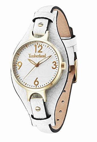 Timberland 0 - Reloj de cuarzo para mujer, con correa de cuero, color blanco