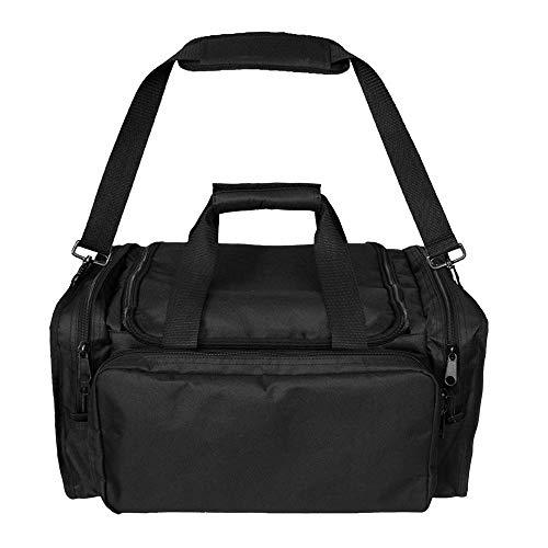 Tactical Duffel Bag Outdoor Multifunktionale Militär Ausrüstung Schießen Range Bag Schultertasche Jagd Reisetasche 600D Oxford Tuch, Schwarz (Bag Range Tactical)