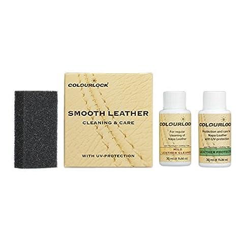 COLOURLOCK Kit Produit de nettoyage et d'entretien du cuir Nettoyage et protection des intérieurs de voiture, suites en cuir, canapés, vestes, sacs à main et autres objets en cuir contre l'usure générale