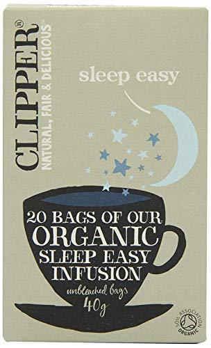 Clipper Organic Sleep Easy (Cinnamon, Chamomile and Valerian) Infusion Tea Bags 40g (20's) x6-120 Tea Bags