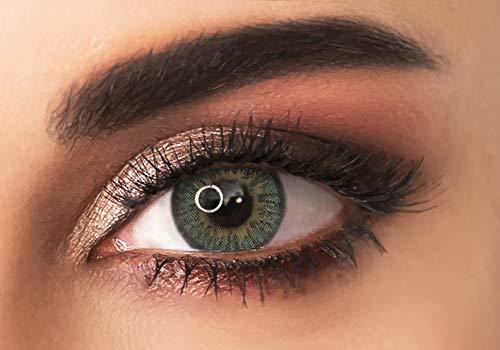 Farbige kontaktlinsen in HELLGRÜN- 3 Farbtöne in der gleichen Farbe- 3 Monaten- ohne Stärke + gratis Kontaktlinsenbehälte -ADORE - TRI LIGHT GREEN