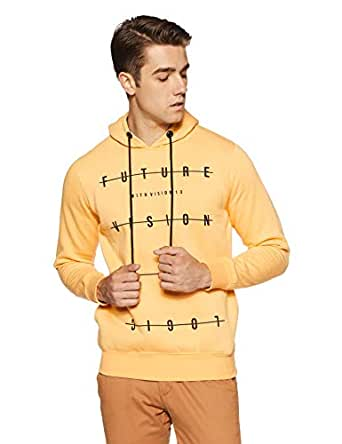 Qube By Fort Collins Men's Sweatshirt (929246 SMU_Mango Milange_XL)