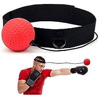 J Robin Balle de Combat avec Bandeau de Tête Ballon de Boxe pour La Formation de Vitesse Réflexe Punch Exercice Entraînement