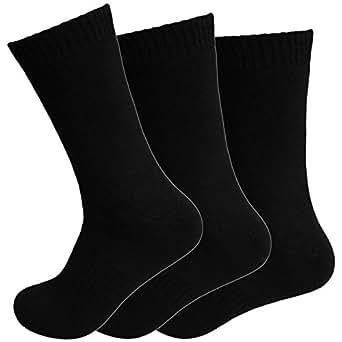 12 Paar Thermo Socken Damen Strümpfe schwarz Winter warm Gr. 35 - 42 (39 - 42)