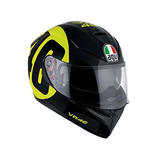 AGV Casco Moto K-3SV E2205Top plk, Black/Amarillo, ML