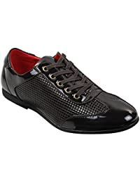 Zapatos casual para hombre inteligente cordones Brown Negro Patente Gamuza Formal