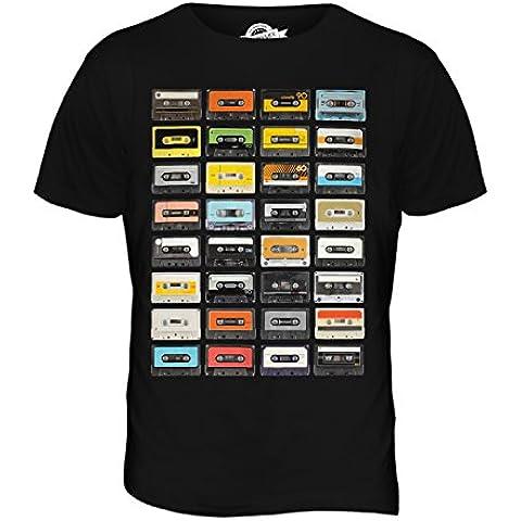 CandyMix Musica Cassette Retrò T-Shirt da Uomo Maglietta