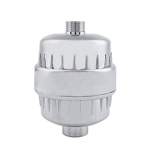 Universel filtre de douche de bain purificateur d'eau Élimine le chlore, les impuretés et les mauvaises odeurs purificateur d'acier inoxydable de haute qualité Net + PP Coton filtre