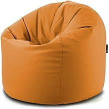 Solo Funda/Carcasa para cab Puf Puff Puf Puf XXL sintética naranja Mis.95x h.130cm Interior vacío con cremallera sul fondo disponible en 8colores