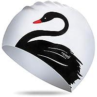 penta Gorro De Baño, Gorro De Baño De Silicona Elástica Gorro De Baño Impermeable Unisex con Excelente Protección Elástica para Los Oídos