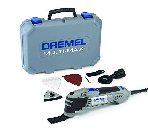 Dremel Multi-Max MM40-1/9 Oszillationswerkzeug (270 Watt, 1 Vorsatzgerät, 9 Zubehöre, Werkzeugkoffer)
