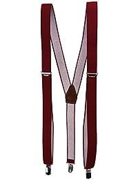schmaler Hosenträger in Uni mit Clip - verstellbar von 75 bis 120 cm