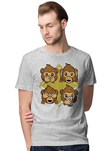 Cute Monkey Reaction Faces Illustration Herren T-Shirt