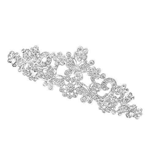 Generic - Nupcial de la boda de baile crystal rhinestone butterfly love flores venda de la corona de la tiara del velo