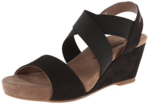 Mephisto Womens Barbara Elasticated Sandals Schwarz Bucksoft