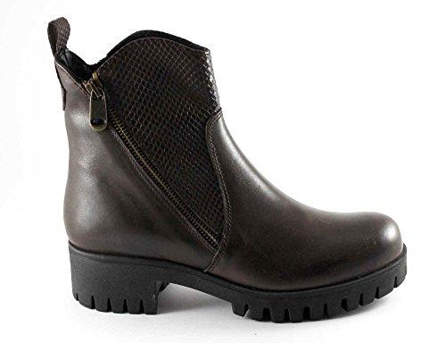 CAF NOIR FC116 t. chaussures foncées de talon de chaussure de femme à double zip
