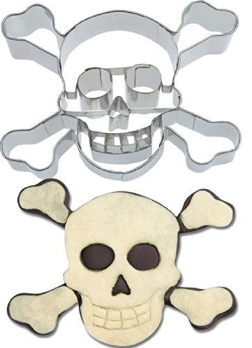 Ausstecher * PIRATEN TOTENKOPF * zum Kekse Backen oder Basteln // Aus Edelstahl von Städter // Mottoparty Kindergeburtstag Kinder Geburtstag Feier Fest Party Motto Ausstechform Ausstechformen Pirates Pirat