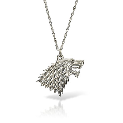 Game Of Thrones Casa Stark lupo Collana con ciondolo in argento