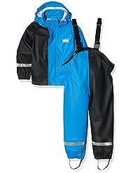 Helly Hansen K Voss Rainset - Conjunto para niños, color azul, talla 98/3