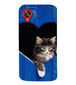 EPICCASE adorable kitty Mobile Back Case Cover For LG Google Nexus 5 (Designer Case)