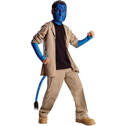 Kinder Kostüm Jake Deluxe - Avatar Jake Sully Deluxe Kostüm Kinder Kinderkostüm Pandora Fabelwesen Gr. S - L, Größe:L