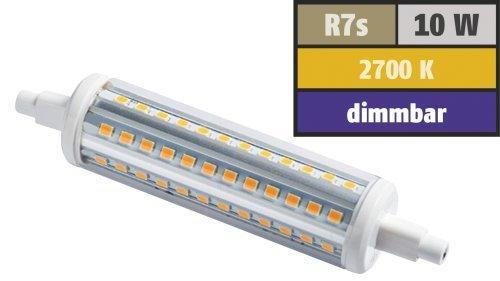 Preisvergleich Produktbild LED-Strahler, R7s, 10W, 1.000 lm, 118mm, 360°, warmweiß, dimmbar