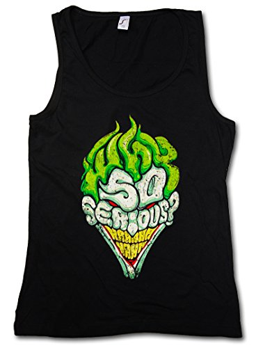 WHY SO SERIOUS DONNA CANOTTA TANK TOP - Batman Gotham le TV City Dark Wayne Knight Joker DONNA CANOTTA TANK TOP Taglie S - XL