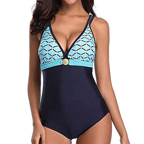 Dehots Sexy Damen Tankini Bikini Große Größen Bademode Badeanzüge Monokini Bikinis für Frauen Mädchen Neckholder Bauchweg