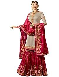 ETHNIC EMPORIUM Garara para el diseñador musulmán de la Novia Bollywood Silk Bordado Pesado paquistaní Indio