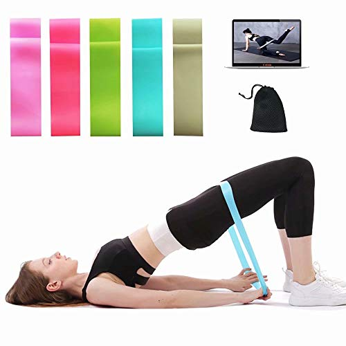 K-Fit Resistance Loop Bands, Yoga Stretch Bands, Exercise Resistance Bands Set,- Powerlifting - Assisted Pull Ups - Mobility Bands (5PCS/Set) for Men and Women-S0717