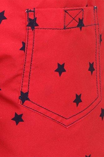 Lora Dora Jungen Badeshort Rot - red star