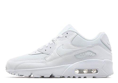 Nike Unisex-Baby Air Max 90 Mesh (PS) Lauflernschuhe, Blanco / Gris (White...