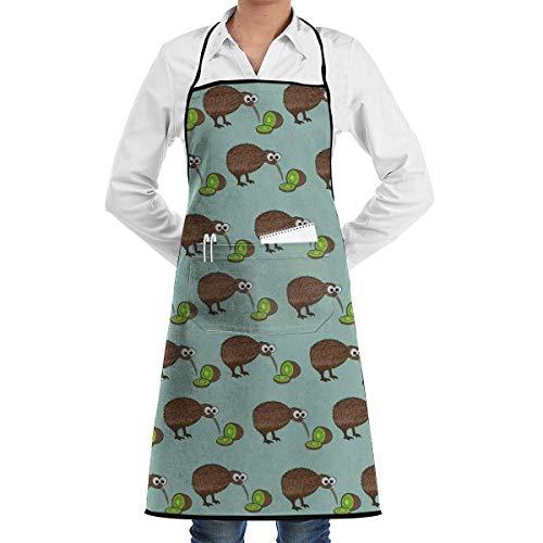 Drempad Premium Unisex Schürzen, Brown Kiwi Kiwi Fruits Below Retro Aprons Kitchen Chef Bib - Professional for BBQ Baking Cooking for Men Women -