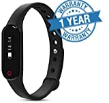 MacBerry SAMSUNG Galaxy J7 - 6 Compatible Compitable Smart Band Little Black Heart Rate Smart Bracelet Bluetooth 4.0 Calorie Pedometer Tracker Sport Wristband for Android iOS 7.0 or above