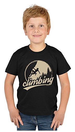 Bergesteiger Sprüche Kinder T-Shirt Wander Shirt : Climbing - Kindershirt Klettern Berge T-Shirt Gr: M = 134-140