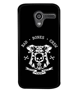 Motorola Moto X, Motorola Moto X (1st Gen) XT1052 XT1058 XT1053 XT1056 XT1060 XT1055 Back Cover Bones Crew Never Fade Away Design From FUSON