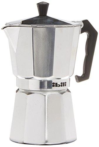 Ibili Bahia Espressokocher, Kaffeekocher, Mokkakocher aus Aluminium für 6 Espresso-Tassen