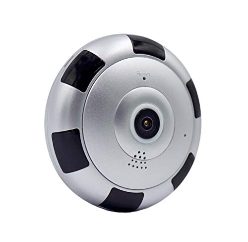 STRIDCJX HD 360 Grad Panorama Weitwinkel Mini CCTV Kamera, Smart IPC Wireless Fisheye IP Kamera, 1080P HD Home Security WiFi Kamera,64G 360-grad-cctv