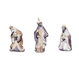 Lladró – Juego de 3 figuras con diseño de los Reyes Magos (Melchor, Gaspar y Baltasar) para belén