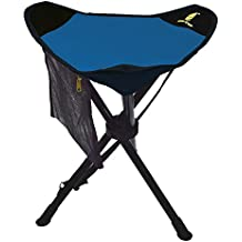 GEERTOP Taburete Silla Plegable de Camping de 3 Patas Grande Portátil Ultraligero Trípode con Bolsillo de Malla para Camping Pesca Caza Picnic Senderismo Deporte al Aire Libre