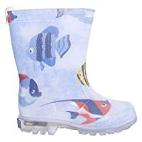 TUC TUC Unisex Light UP Wellies ARRECIFE DE Coral