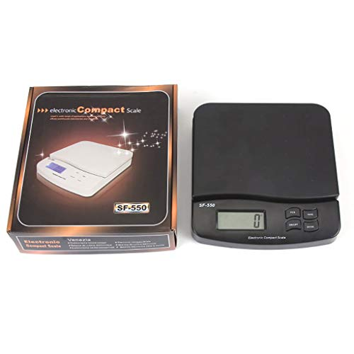 Lomsarsh LCD Elektronische Waage 25 kg Digitalwaage für Küchenlebensmittel 1 g Gewicht Elektronische Waage, Schwarz