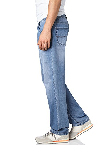 Pioneer Herren Straight Leg Jeanshose Rando Blau (stone used 06)